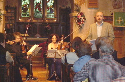 Speaking before a performance of String Quartet No.6